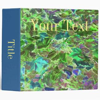 Abstract Autumn Leaves Vinyl Binder
