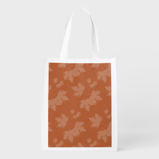 Abstract Autumn Patterns Grocery Bag