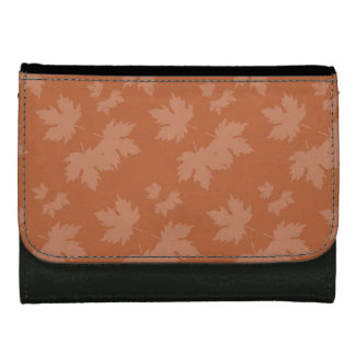 Abstract Autumn Patterns Leather Wallet