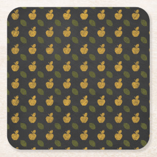 Abstract Autumn Patterns Square Paper Coaster