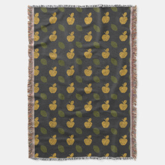 Abstract Autumn Patterns Throw Blanket
