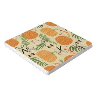 Abstract Autumn Patterns Trivet