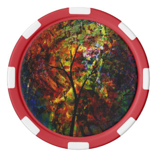 Abstract Autumn Poker Chips