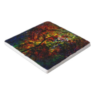 Abstract Autumn Trivet