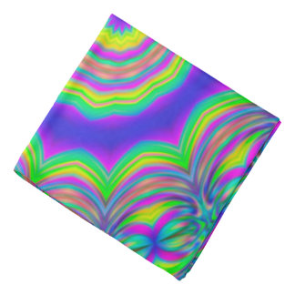 Abstract Background Blue And Green Concentric Star Bandana