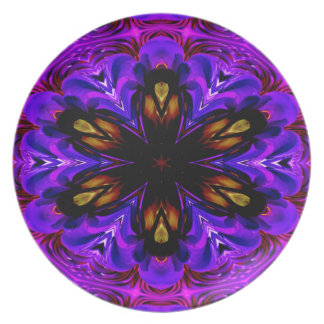 Abstract Background Dark Purple And Blue Plate
