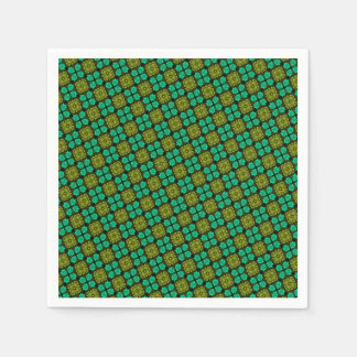 Abstract Background Green Pattern Paper Napkin