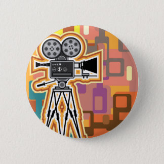 Abstract Background Movie Projector Film camera 2 Inch Round Button