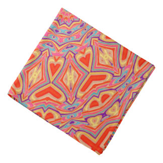 Abstract Background Multi Color Mosaic Pattern Bandana