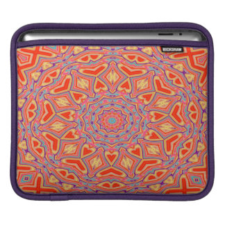 Abstract Background Multi Color Mosaic Pattern iPad Sleeve