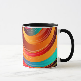 Abstract Background Multi Color Mosaic Pattern Mug