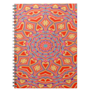 Abstract Background Multi Color Mosaic Pattern Notebooks