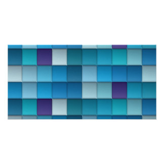 Abstract Background Personalized Photo Card