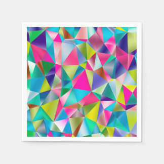 Abstract Background Purple And Colorful Paper Napkins
