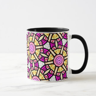 Abstract Background Purple And Gold Stained Glass Mug