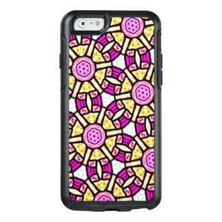 Abstract Background Purple And Gold Stained Glass OtterBox iPhone 6/6s Case