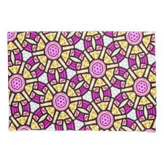 Abstract Background Purple And Gold Stained Glass Pillowcase