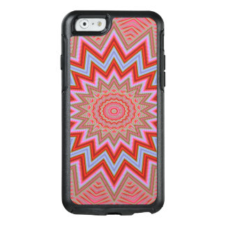 Abstract Background Red And Pink Concentric Stars OtterBox iPhone 6/6s Case