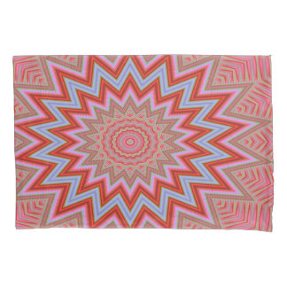Abstract Background Red And Pink Concentric Stars Pillowcase
