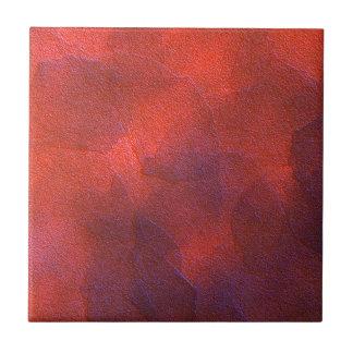 Abstract Background Vivid Orange and Cobalt Blue Ceramic Tile