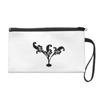 abstract wristlet clutches
