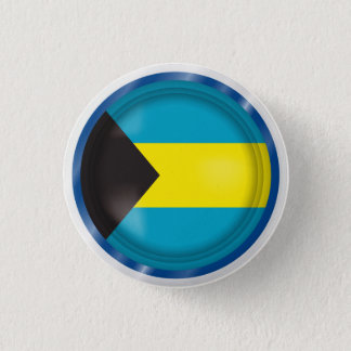 Abstract Bahamas Flag, Bahamian Colors Button