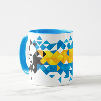 Abstract Bahamas Flag, Bahamian Colors Mug