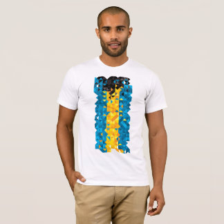 Abstract Bahamas Flag, Bahamian Colors, t-shirt
