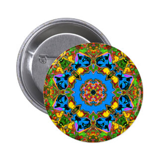 Abstract Balance of Color 2 Inch Round Button