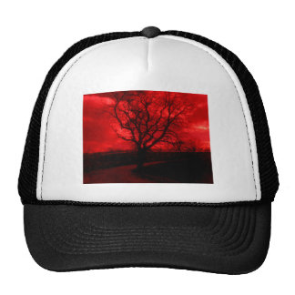 Abstract Bald Tree Trucker Hat