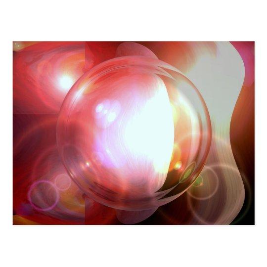 Abstract Ball Postcard