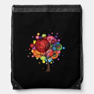 Abstract Balloon Tree Drawstring Backpack