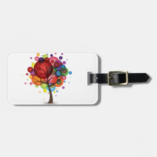 Abstract Balloon Tree Luggage Tag
