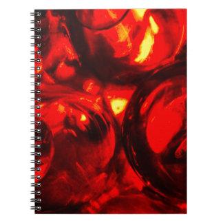 Abstract balls of gel notebook