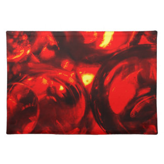 Abstract balls of gel placemat