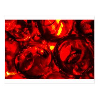 Abstract balls of gel postcard