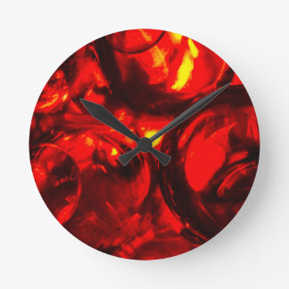 Abstract balls of gel round clock