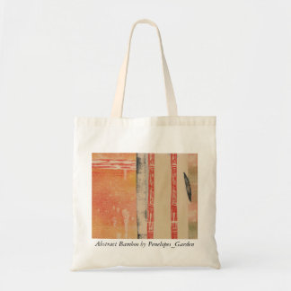 Abstract Bamboo by Penelopes_Garden Budget Tote Bag