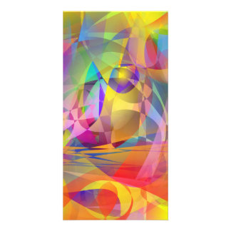 Abstract Banana Picture Card