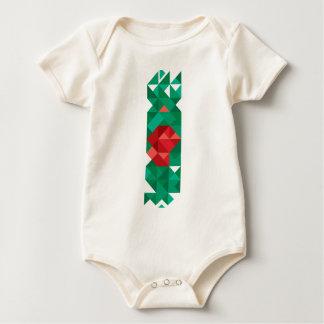 Abstract Bangladesh Flag, Bangladech Colors Baby Bodysuit