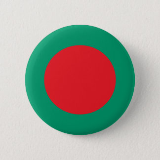 Abstract Bangladesh Flag, Bangladech Colors Button