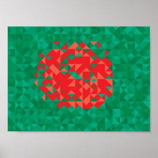 Abstract Bangladesh Flag, Bangladech Colors Poster