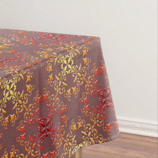 abstract baroque style pattern tablecloth