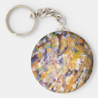 Abstract Basic Round Button Keychain