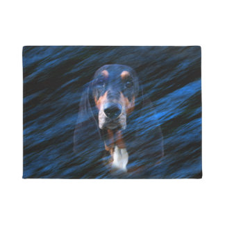 Abstract Basset Hound face Doormat