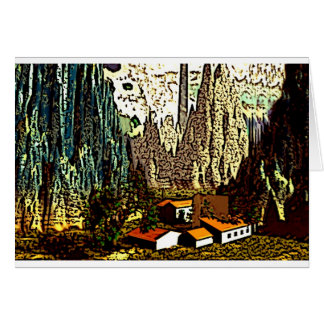 Abstract Bavarian Landscape Card