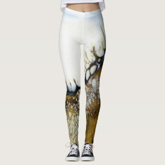 Abstract Beach and Shoreline Leggings