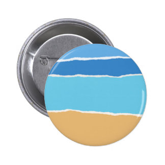 Abstract beach, sea and sky 2 inch round button