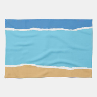 Abstract beach, sea and sky hand towels