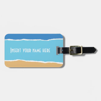 Abstract beach, sea and sky luggage tag